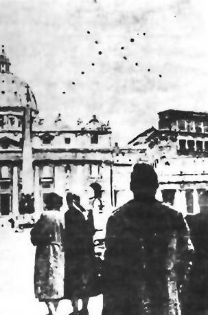 Σμήνος Α.Τ.Ι.Α πάνω από το Βατικανό...