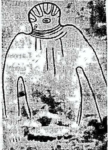 Η εικόνα αυτή, ύψους 6 μέτρων, ανακαλύφθηκε στους βράχους του Τασιλί στη Σαχάρα...