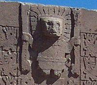 Ο θεός Βιρακότσα, στην επονομαζόμενη Πύλη του Ήλιου στην αρχαία πόλη Τιαουανάκο στη Βολιβία...