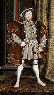 Ερρίκος ο VIII, βασιλιάς της Αγγλίας από 21/04/1509 έως 28/01/1547