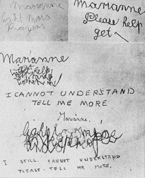 Αλλόκοσμα μηνύματα, χαραγμένα στους τοίχους του Πρεσβυτέριου του Μπόρλεϊ