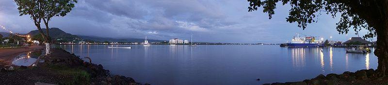 Άποψη του λιμανιού Άπια, των Νήσων Σαμόα