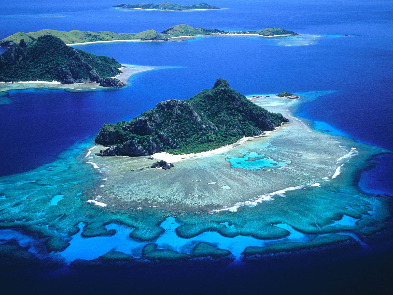 Άποψη από τα νησιά Φίτζι, στον Ειρηνικό Ωκεανό