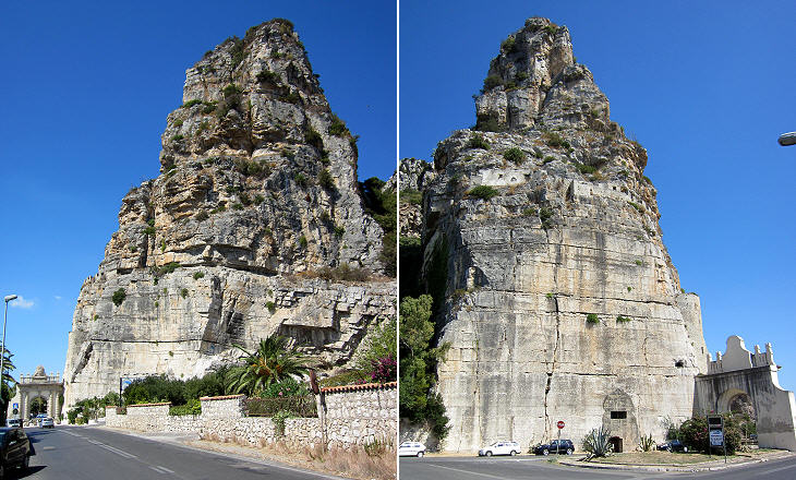 To Pisco Montano, όπως φαίνεται από την πλευρά του δρόμου που οδηγεί στη Νάπολη