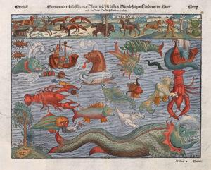 Ο χάρτης των θαλασσίων τεράτων, όπως απεικονίζονται στην Carta marina το 1539 (χάρτης των Βορείων Χωρών)