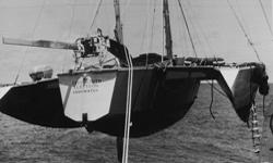 """Το """"Teignmouth Electron"""", όπως βρέθηκε εγκαταλελειμμένο τον Ιούλιο του 1969"""
