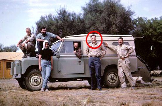 """Ο Ουίλλιαμ Κάσσιντυ με την αποστολή του στο """"Campo del Cielo"""", την δεκαετία του 1960"""
