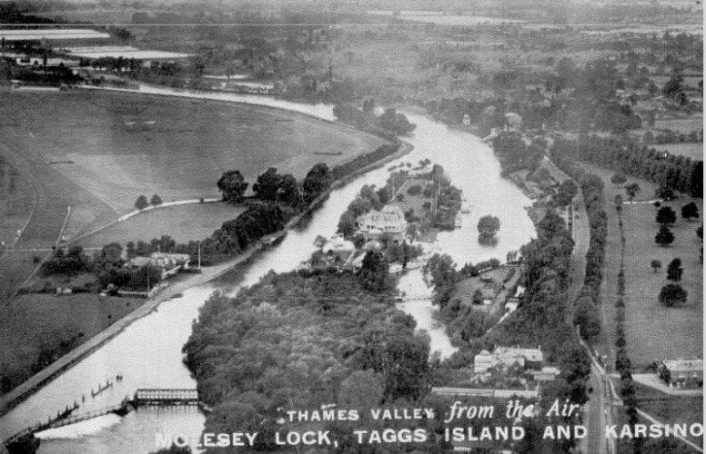 Άποψη του νησιού, το 1930