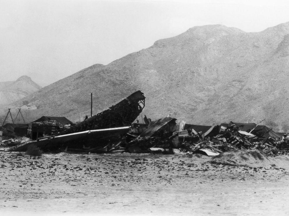 Τα συντρίμμια του B-52, στο Παλομάρες
