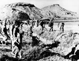 Αμερικανικές δυνάμεις στο Παλομάρες, κατά τη διάρκεια των ερευνών