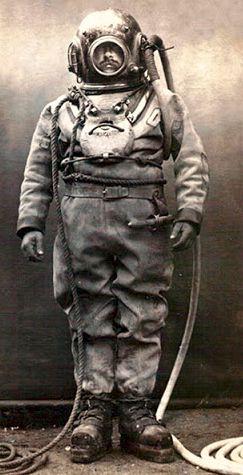 Στολή δύτη, αρχές 1900