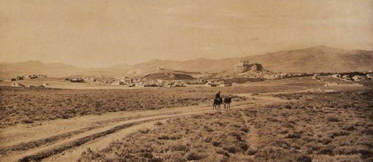 Η Ακρόπολη από τον δρόμο προς την Καισαριανή, 1919
