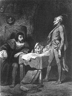 Ο Μεφιστοφελής επισκέπεται τον Φάουστ στο σπουδαστήριό του