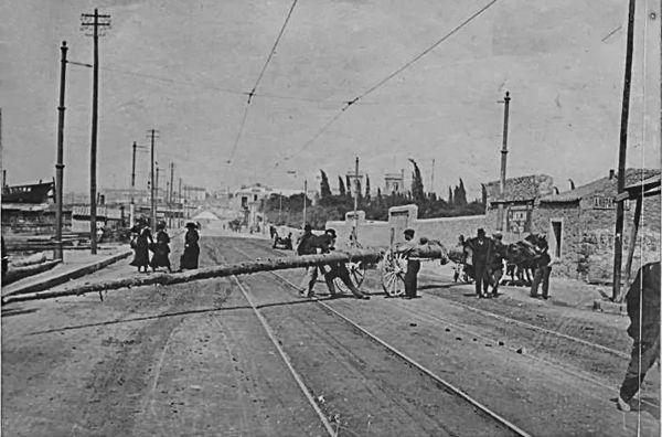 Οδός Αγίου Διονυσίου (σημερινή Ακτή Κονδύλη), αρχές 20ου αιώνα