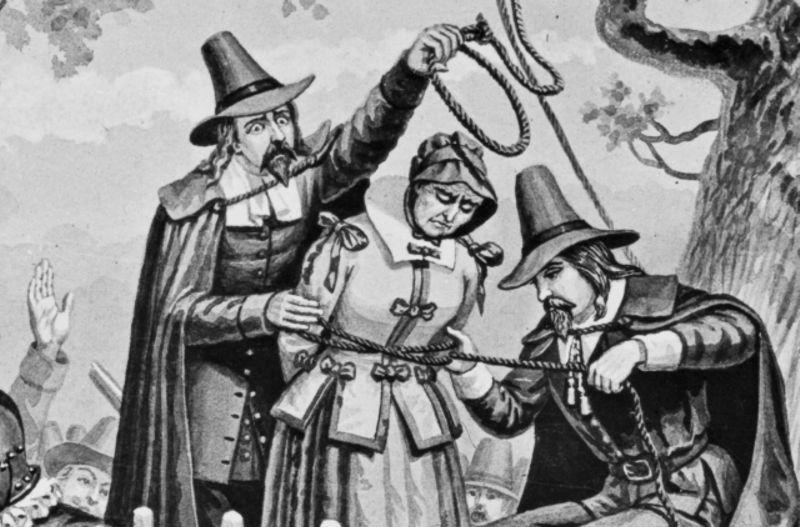 Η Μπρίτζετ Μπίσοπ συνελήφθη στις 18/04/1692 και απαγχονίσθηκε στις 10/06/1692