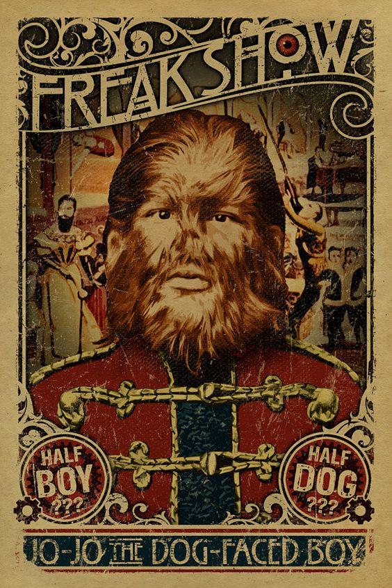 """Αφίσα από τον """"θίασο τεράτων"""" του Barnum"""