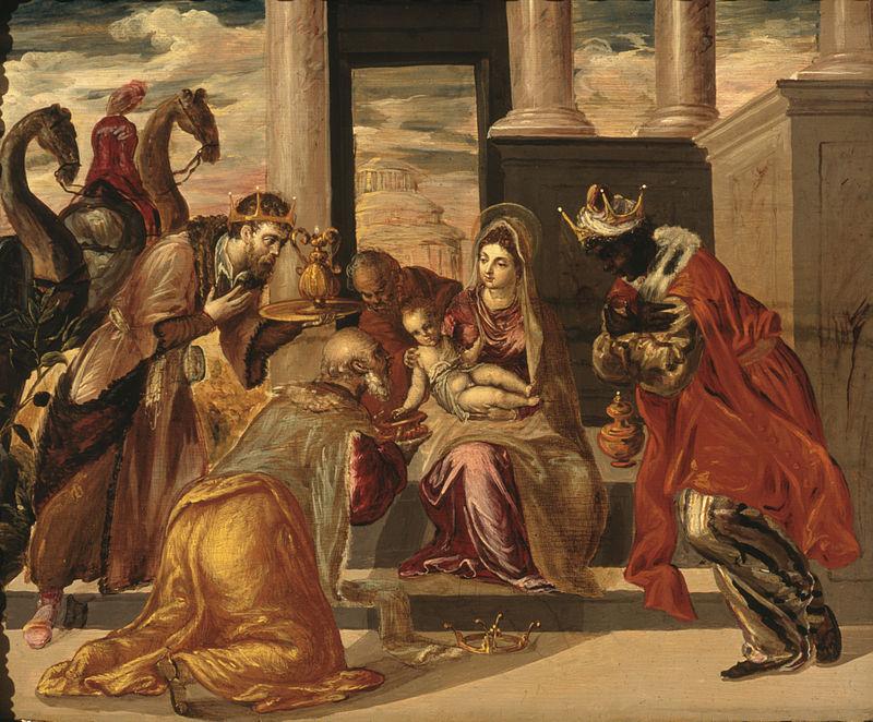 Η Προσκύνηση των Τριών Μάγων, πίνακας του Δομήνικου Θεοτοκόπουλου, 1568