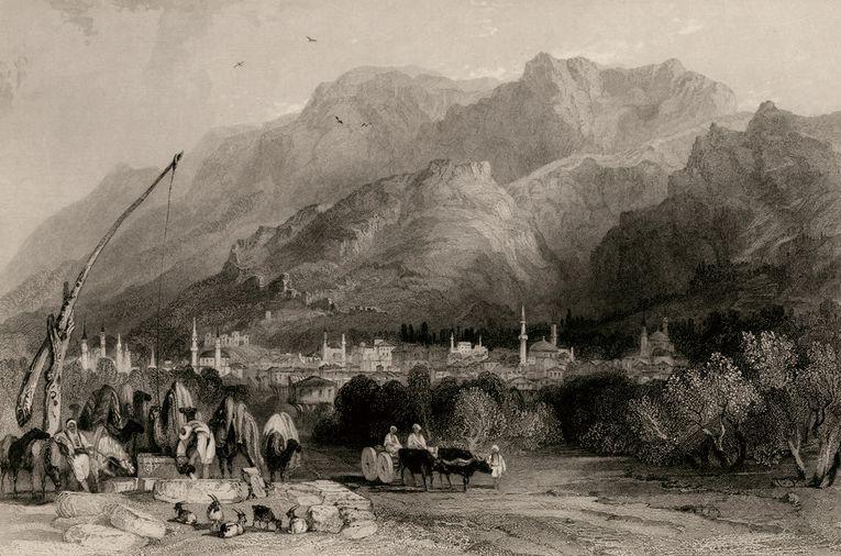 Η πόλη της Μαγνησίας (σήμερα Μανίσα) με το όρος Σίπυλος