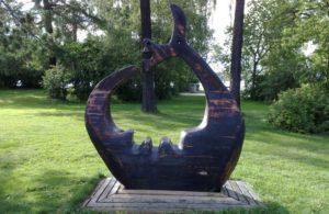 Γλυπτό που αναπαριστά το τέρας της λίμνης (Στόρσον, Σουηδία)