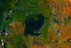 Η λίμνη Βικτωρία, όπως φαίνεται από το Διάστημα