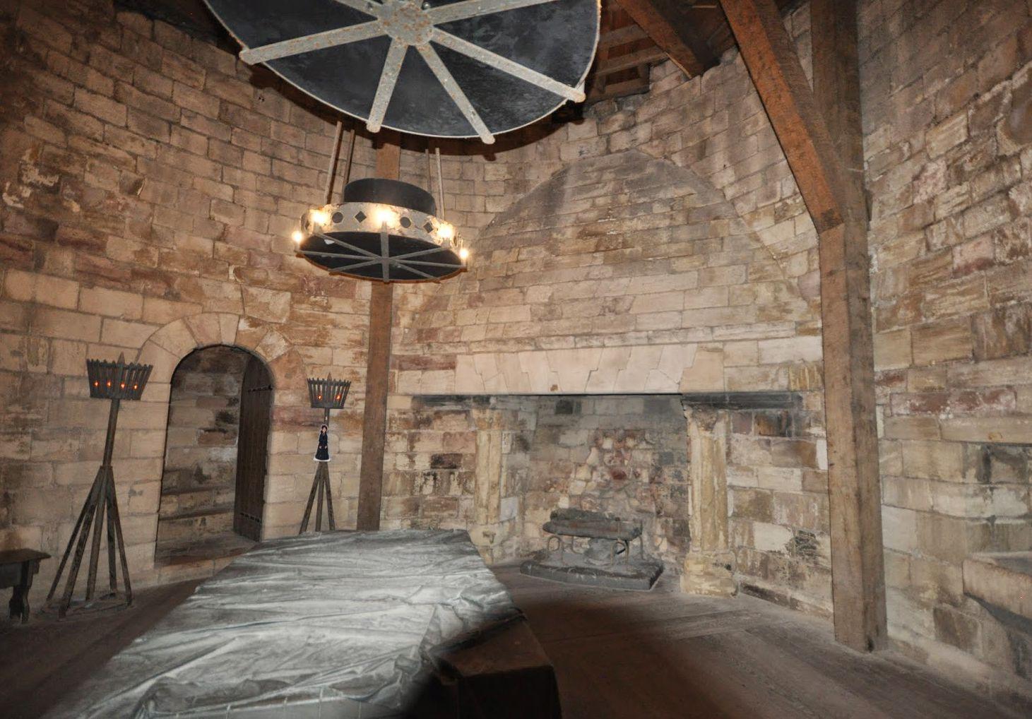 Άποψη από το εσωτερικό του Κάστρου Conisbrough