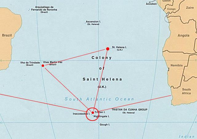 Η τοποθεσία που σύμφωνα με τον Egerton Sykes βρισκόταν η Ατλαντίδα