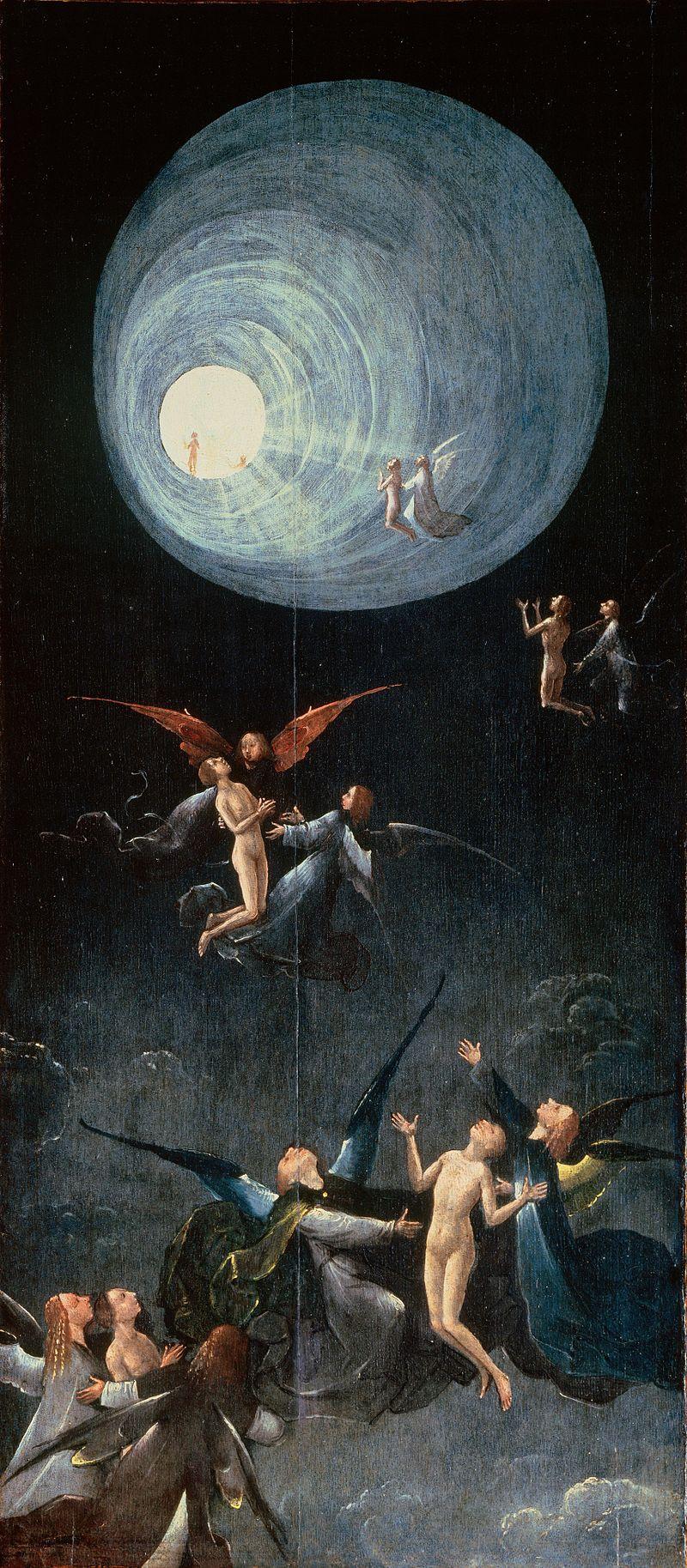 """""""Ανάληψη ευλογημένων"""", πίνακας του Ολλανδού ζωγράφου Hieronymus Bosch (1450 - 1516), που σχετίζεται με την μεταθανάτια εμπειρία, σύμφωνα με ερευνητές"""