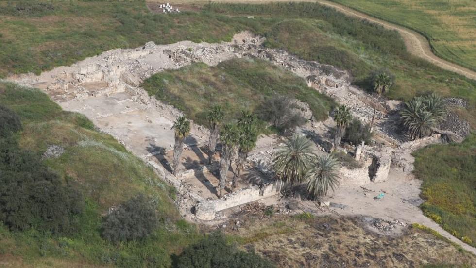 Τα ερείπια του φρουρίου Khirbat al-Minya