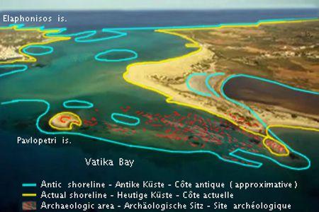Δορυφορική εικόνα του Παυλοπετρίου