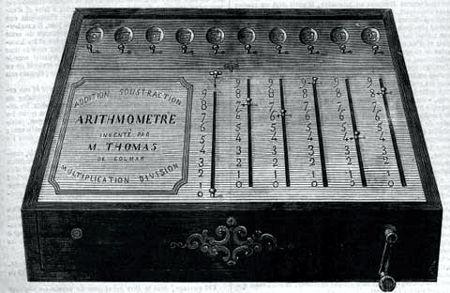 H αριθμομηχανή του Thomas de Colmar