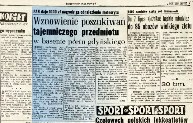 """Η είδηση, όπως δημοσιεύθηκε στην πολωνική εφημερίδα """"Kurier Polski"""""""