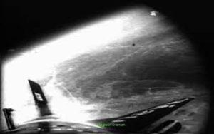 """Μία από τις φωτογραφίες που τραβήχτηκαν από το """"Rocket X-15"""", στις 17/07/1962"""
