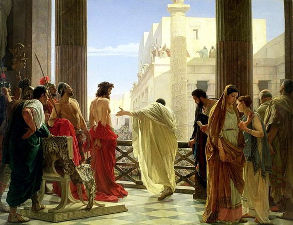 """Ecce homo"" (Ιδού ο Άνθρωπος), πίνακας του Antonio Ciseri (25/10/1821 - 08/03/1891)"