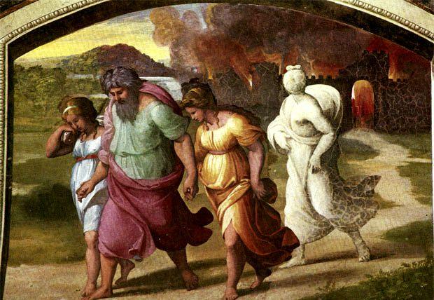 Ο Λωτ και οι κόρες του γλυτώνοντας από την καταστροφή των Σοδόμων και Γομόρρων