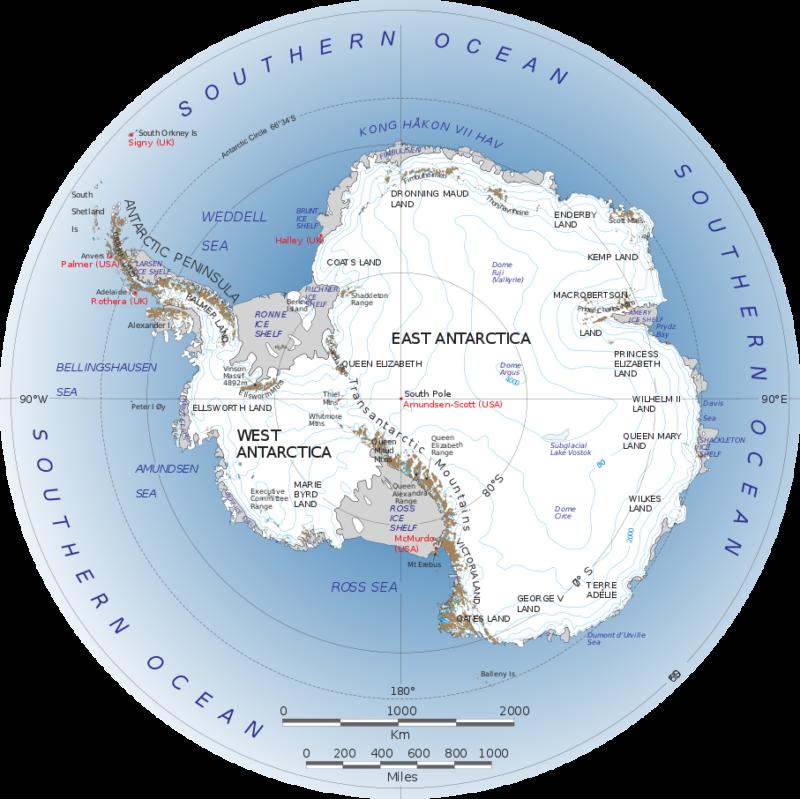 Χάρτης της Ανταρκτικής