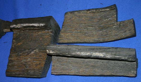 Τα τμήματα ξύλου που ανακάλυψε ο Φερνάντ Ναβάρρα, το 1955