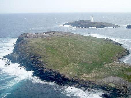 Άποψη των νησιών Out Skerries, της Σκωτίας