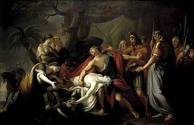 """""""Ο θρήνος του Αχιλλέα"""", πίνακας του Gavin Hamilton"""