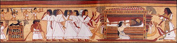 Αναπαράσταση νεκρικής τελετής των αρχαίων Αιγυπτίων