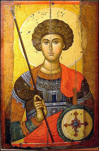 Εικόνα του Αγίου Γεωργίου, από εργαστήριο της Κωνσταντινούπολης του 14ου αιώνα
