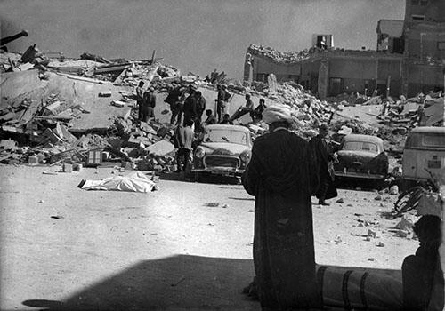 Φωτογραφία από τον καταστροφικό σεισμό του Αγκαντίρ, τον Φεβρουάριο του 1960