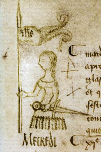Απεικόνιση της Ζαν ντ' Αρκ σε χειρόγραφο του 1429