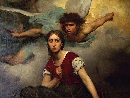 """Jeanne d'Arc"", πίνακας του Eugene Thirion (1876)"