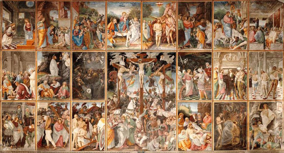 Η Ζωή και τα Πάθη του Ιησού, πίνακας του Gaudenzio Ferrari (1471 - 1546)