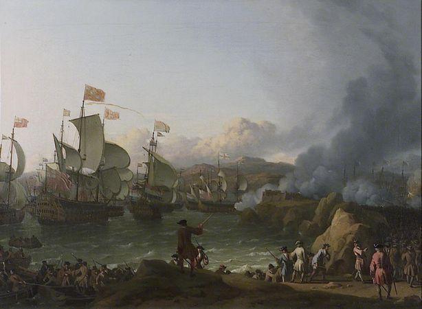 Η ναυμαχία του Όρμου του Βίγκο, πίνακας του Ολλανδού ζωγράφου Ludolf Bakhuizen (28/12/1630 - 17/11/1708)