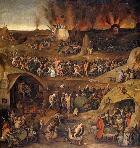 """""""Κόλαση"""", πίνακας του Φλαμανδού ζωγράφου Pieter Huys (1519 - 1586)"""