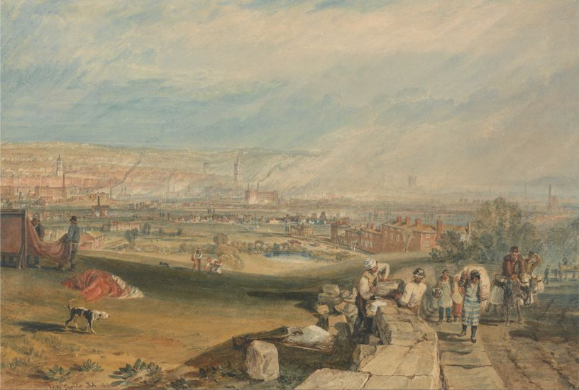 """Leeds"", πίνακας του Άγγλου ζωγράφου Joseph Mallord William Turner (14/05/1775 - 19/12/1851)"