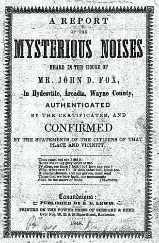 Δημοσίευμα του 1848 όπου αναφερόταν στα γεγονότα του Hydesville