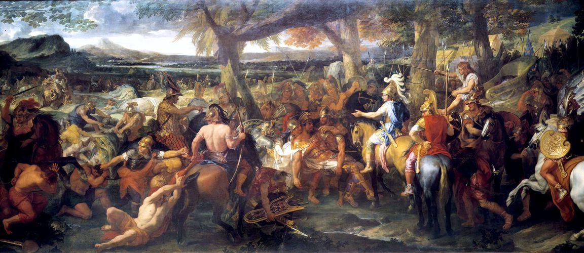 """""""Αλέξανδρος και Πώρος"""", πίνακας του Γάλλου ζωγράφου Charles Le Brun (24/02/1619 - 22/02/1690)"""