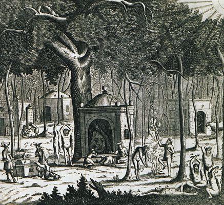 Γυμνοσοφιστές της Ινδίας, γκραβούρα του 1703
